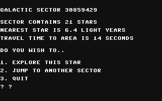 Galactic Frontier - Commodore 64 (C64) rom download