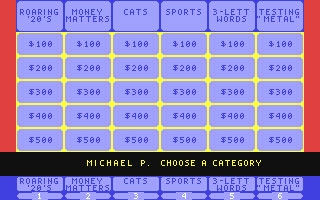 Jeopardy! - Commodore 64 (C64) rom download | WoWroms com