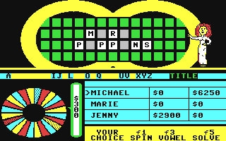 Wheel of Fortune - Commodore 64 (C64) rom download   WoWroms com
