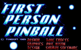 1st Person Pinball (1989) image