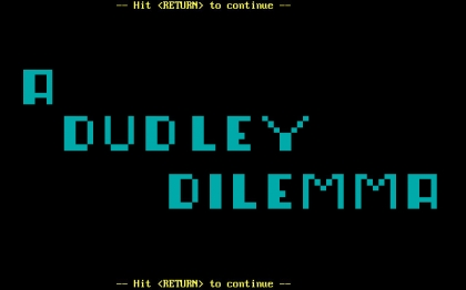 A Dudley Dilemma (1988) image