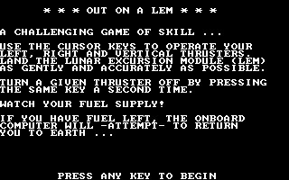 Out on a LEM (1984) image
