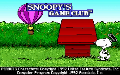Snoopy's Game Club (1992) image