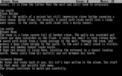 ZORK II -: THE WIZARD OF FROBOZZ - DOS (Ms-Dos) rom download