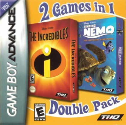 2 Games in 1 : Finding Nemo, The Continuing Adventures + The Incredibl [USA] image