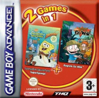 2 Games in 1 : Rugrats, Go Wild + SpongeBob Square [Europe] image