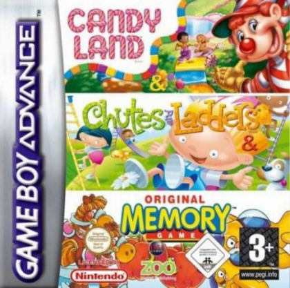 3 Game Pack! : Candy Land + Chutes and Ladders + Original Memory Game [USA] image