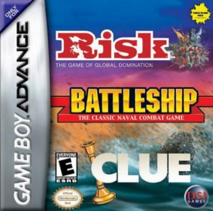 Three-in-One Pack : Risk + Battleship + Clue [USA] - Nintendo