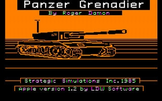 Panzer Grenadier - Apple II () rom download | WoWroms com